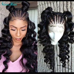 Newa Hair 150 Density Pre Plucked Brazilian Loose Wave Silk To Lace Front Wig (w97)