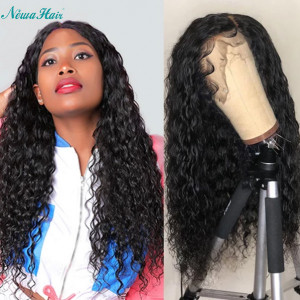 Newa Hair 150 Density Brazilian Water Wave Silk Base Lace Front Wig With Baby Hair (w100)