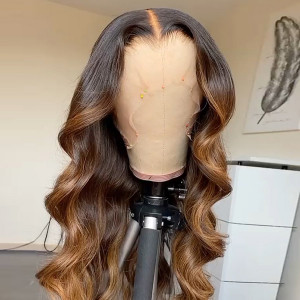 Yonce Wig 150 Density Omber 13x6 Brazilian Body Wave Lace Front Human Hair Wigs Pre Plucked(yy54)