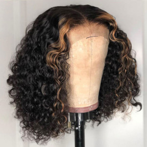 Yonce Wig 13*6 Lace Wigs Water Wave Brazilian Virgin Human Hair Pre Plucked Hairline (006)