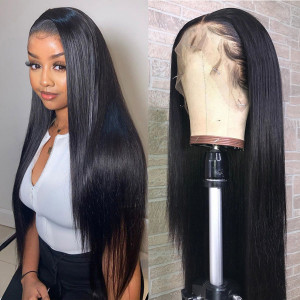 Newa Hair 150% Density 13x6 Lace Front Human Hair Wigs Straight Brazilian Hair With Baby Hair (Y07)