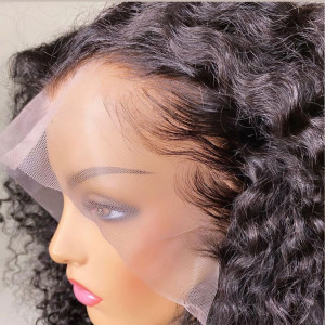 Undetectable Invisible HD Lace Glueless 13*6 Frontal Wigs Brazilian Virgin Human Hair Pre Plucked Hairline (w021)