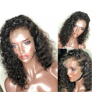 Newa Hair 180% Density Curly Bob Brazilian Hair 360 Lace Frontal Human Hair Wig (y34)