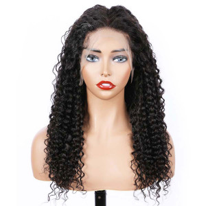 Newa Hair 2019 New 150 Density Brazilian Curly 370 Lace Human Hair Wigs (W163)