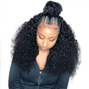 Newa Hair 2019 New Brazilian Deep Curly 370 Lace Human Hair Wigs 150 Density (W165)