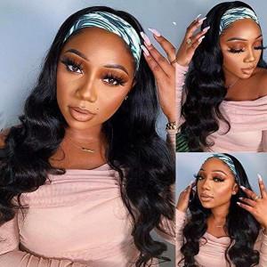 Affordable&Beginner Friendly Headband Wig Wave Human Hair Wig 150 Density Hair(018)