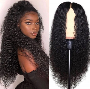 Newa Hair 150 Density Pre Plucked Water Wave Full Lace Human Hair Wig Brazilian Hair (w117)