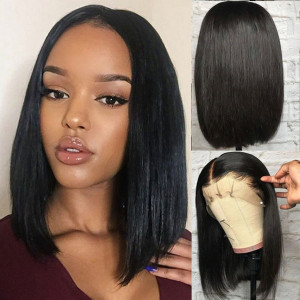 Newa Hair 150 Density 13x6 Straight Lace Front Wigs Human Hair Bob Wigs (w59)