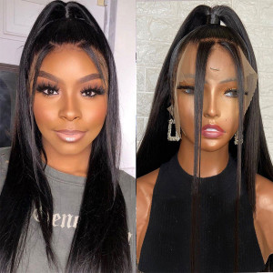 Newa Hair 150% Density 13x6 Lace Front Human Hair Wigs Straight Brazilian Hair With Baby Hair (Y190)