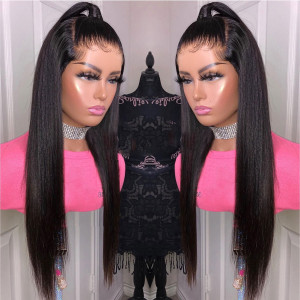 Newa Hair 180% Density straight Brazilian Hair 360 Lace frontal Human Hair Wig (YY12)