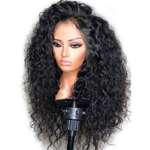 Newa Hair 180 Density Brazilian 360 Lace Frontal Wigs Curly Human Hair Wigs (yy62)