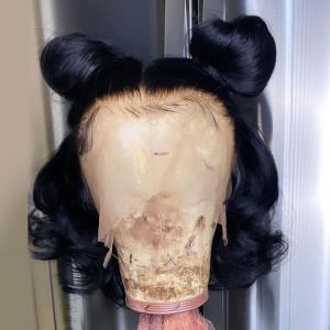 Hot Sale Glueless 13x6 Lace Wigs Rose Wave Brazilian Virgin Human Hair Pre Plucked Hairline (w032)