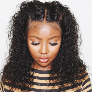 Newa Hair 150% Density Curly Brazilian Hair Hair 13x6 Lace front Human Hair Wigs (y44)
