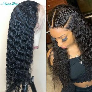 Newa Hair 130 Density 13X4 Brazilian Curly Lace Front Human Hair Wigs(w177)