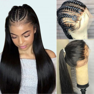Newa Hair Full Lace Wigs straight Hair 150% Density Brazilian Remy Hair (Y102)