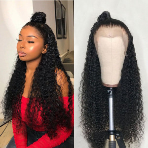 Newa Hair 130 Density 13X6 Brazilian Lace Front Wig Pre Plucked Curly Remy Hair Wig (007)