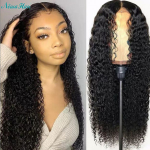 Newa Hair 130 Density Brazilian Water Wave Full Lace Human Hair Wigs With Baby Hair (w66)