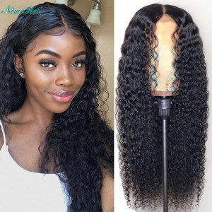 Newa Hair 130 Density Pre Plucked Brazilian Curly Full Lace Human Hair Wigs (w67)