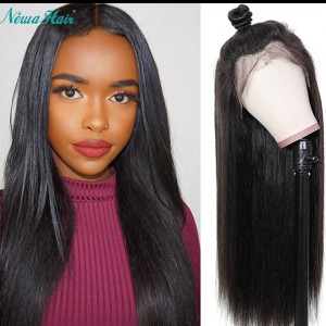Newa Hair 130% Density 13x6 Lace Front Human Hair Wigs Straight Brazilian Hair With Baby Hair (Y59)