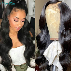 Newa Hair 150 Density Brazilian Body Wave Silk Base Lace Front Wig With Baby Hair (w99)