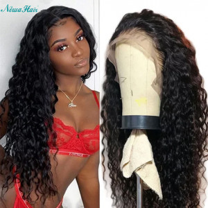 Newa Hair 13x6 Lace Front Human Hair Wig Curly Brazilian Hair 150% Density (y39)