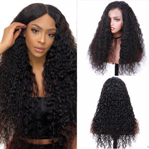 Newa Hair 180% Density Brazilian Hair Curly 360 Lace Frontal Wigs (Y113)