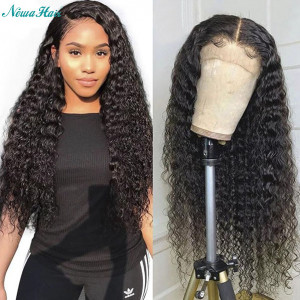 Newa Hair 150% Density Brazilian Hair Curly Full Lace Wigs (Y115)