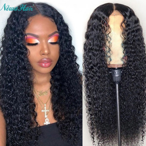 Newa Hair 150 Density 13x6 Brazilian Deep Curly Lace Front Wigs Pre Plucked (w513)