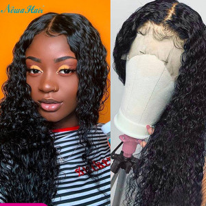Newa Hair Full Lace Human Hair Wig Brazilian Hair Curly 130% Density for women (y41)