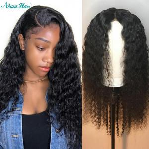 Newa Hair 180% Density Brazilian Hair Curly Hair 360 Lace frontal Human Hair Wigs (y43)
