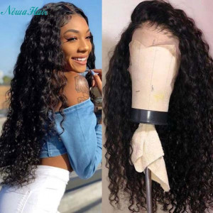 Newa Hair 150% Density Brazilian Hair 13x6 Lace Front Human Hair Wigs Wavy (y45)