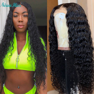 Newa Hair 150% Density Water Wave Brazilian Hair 13x6 Lace Front Human Hair Wig (Y49)