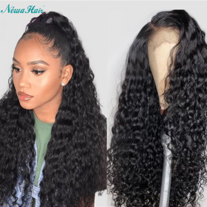 Newa Hair 150% Density Water Wave Brazilian Hair 13x6 Lace Front Human Hair Wigs (Y52)