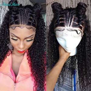 Newa Hair 150% Density Brazilian Hair Curly Hair Full Lace Human Hair Wigs (Y57)