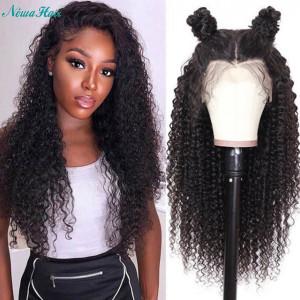 Newa Hair 130 Density 13X4 Brazilian Curly Lace Front Human Hair Wigs(w175)