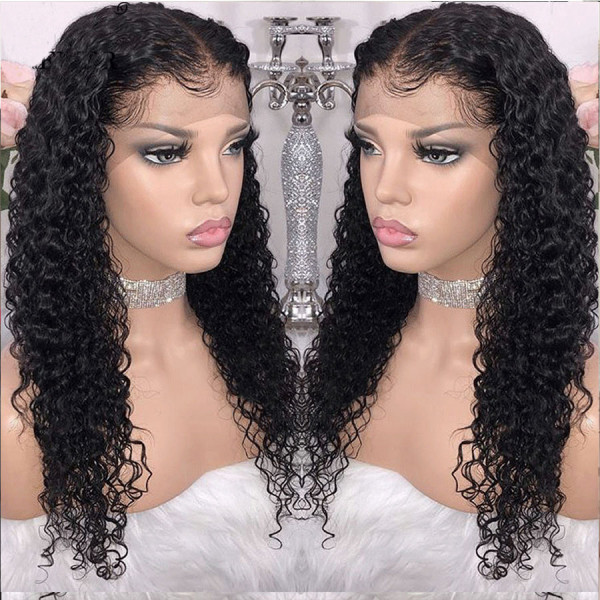 Surprising 150 Density 13X6 Brazilian Curly Lace Front Wigs Pre Plucked W53 Schematic Wiring Diagrams Amerangerunnerswayorg